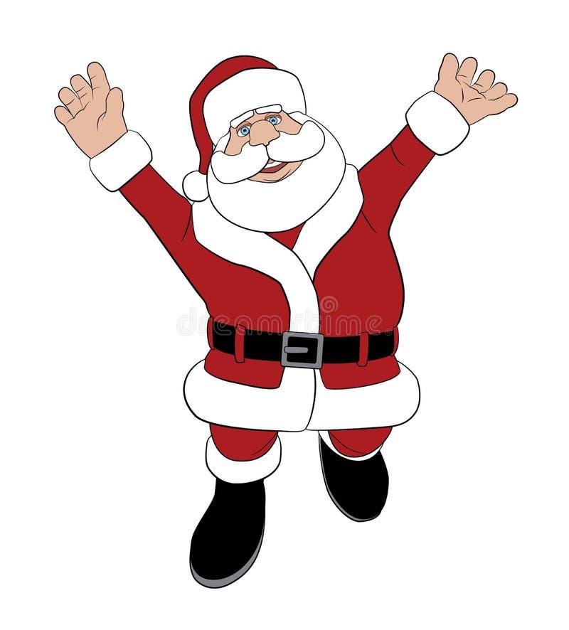 Santa que salta para a alegria