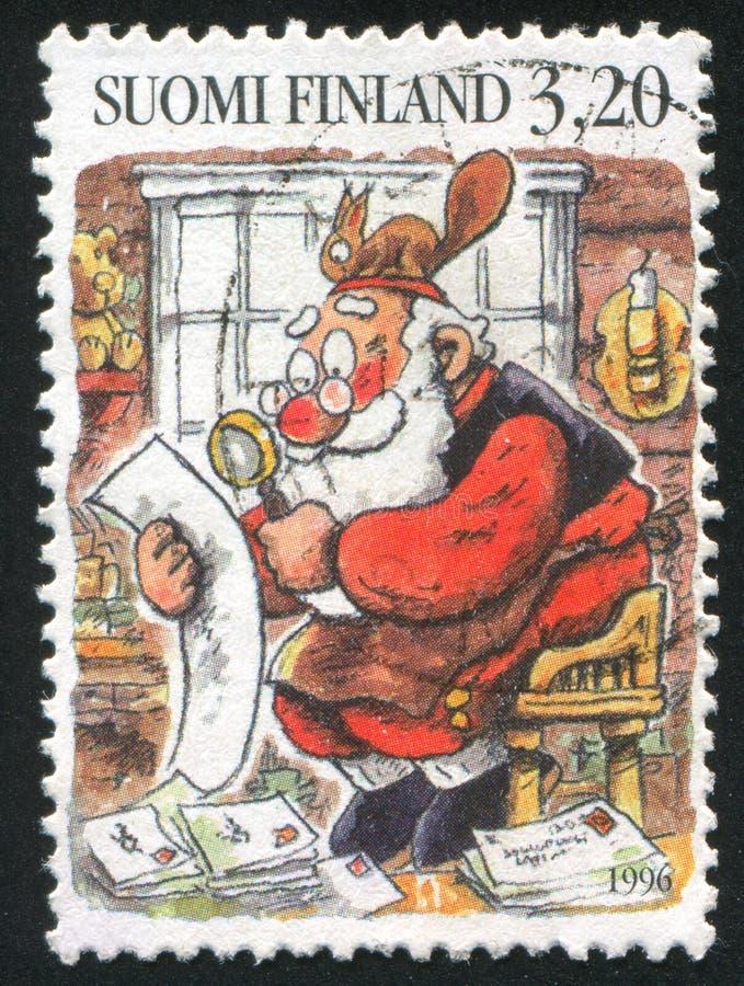 Santa Reading Letters fotos de archivo libres de regalías