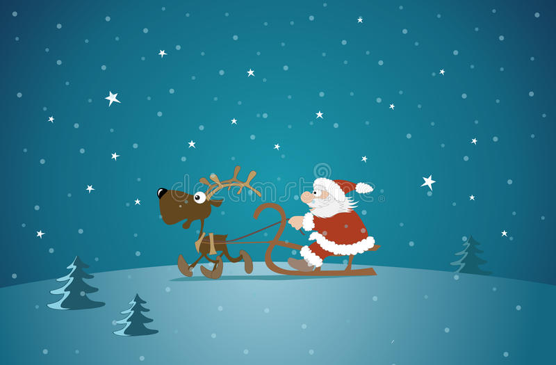 Download Santa And Reindeer Royalty Free Stock Photo - Image: 22337505