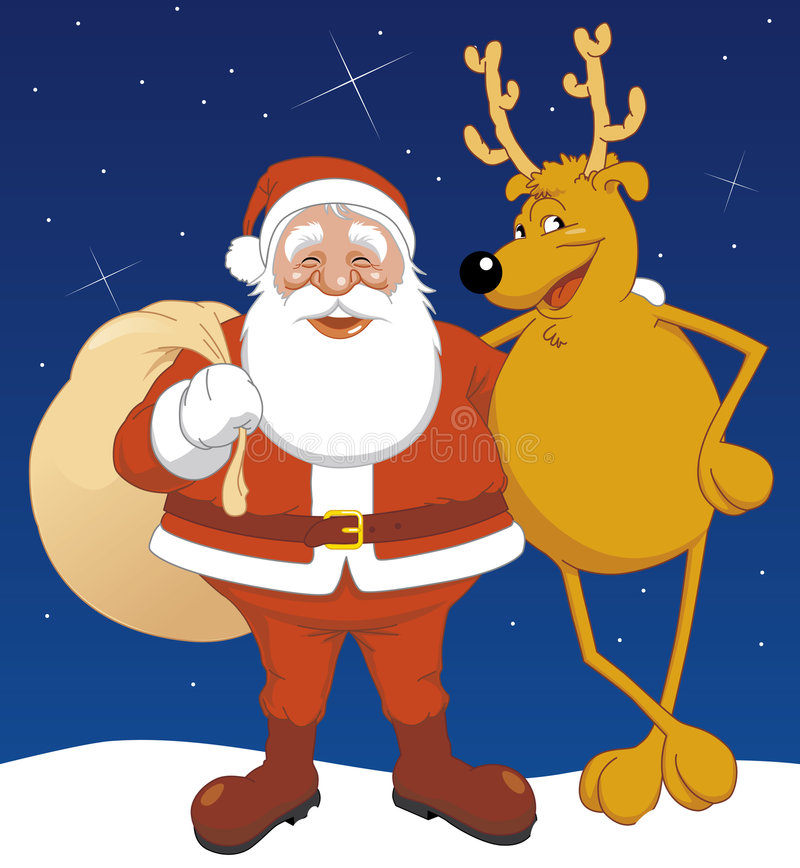 Download Santa and reindeer stock vector. Illustration of illustration - 6326954