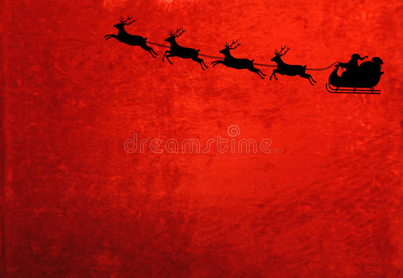Santa and the Reindeer stock photo