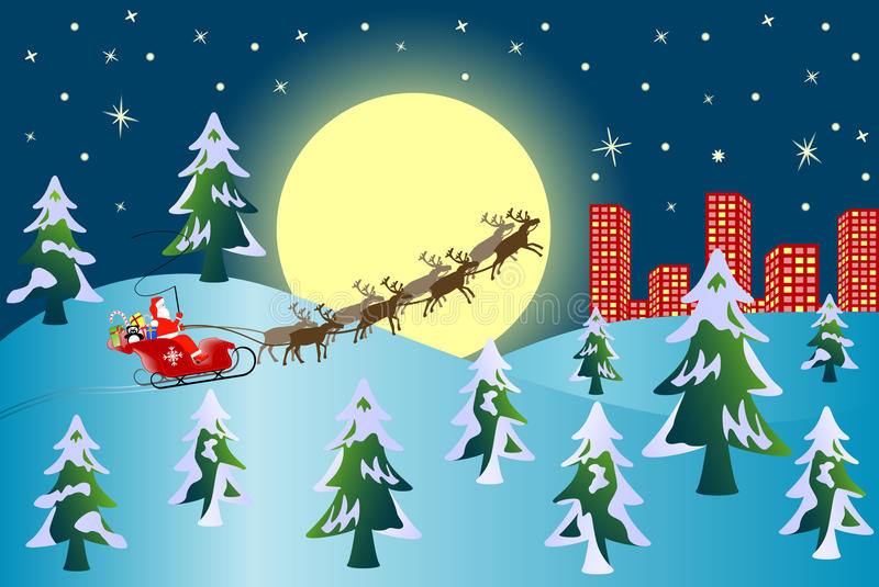 Download Santa With Reindeers Royalty Free Stock Photos - Image: 11006418