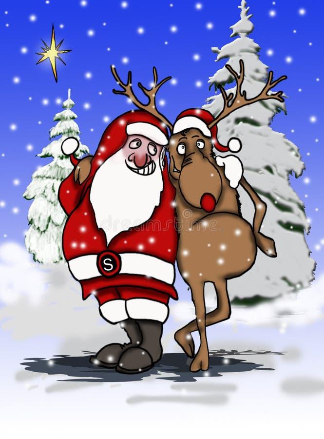 Santa reniferowy zdjęcia stock