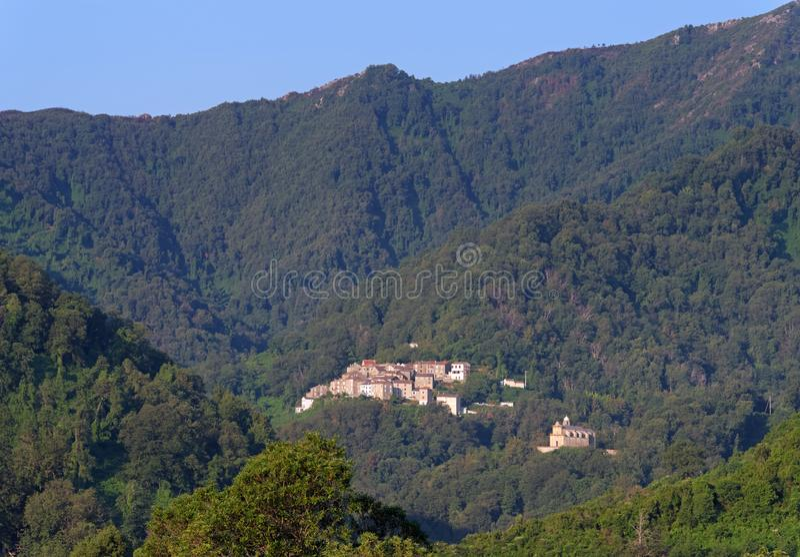 Santa reparata wioska w Corsica górze obrazy royalty free