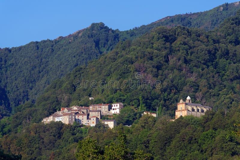 Santa reparata wioska w Corsica górze fotografia stock