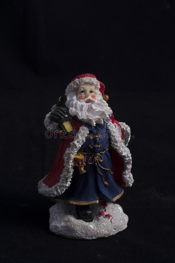 Santa resin statue royalty free stock photography