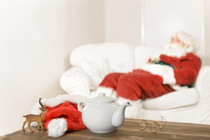 Santa Resting fotografia stock libera da diritti