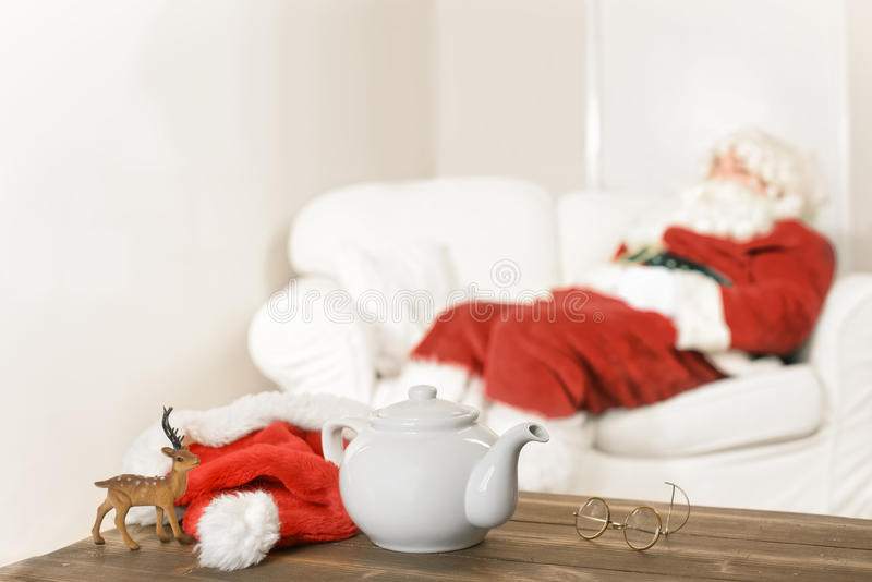 Santa Resting royalty free stock photo