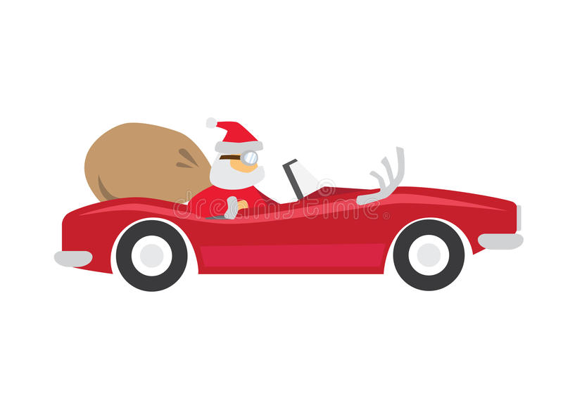 Santa_Ride_Car stock foto's