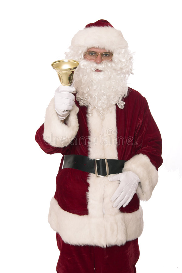 Santa rings bell royalty free stock image
