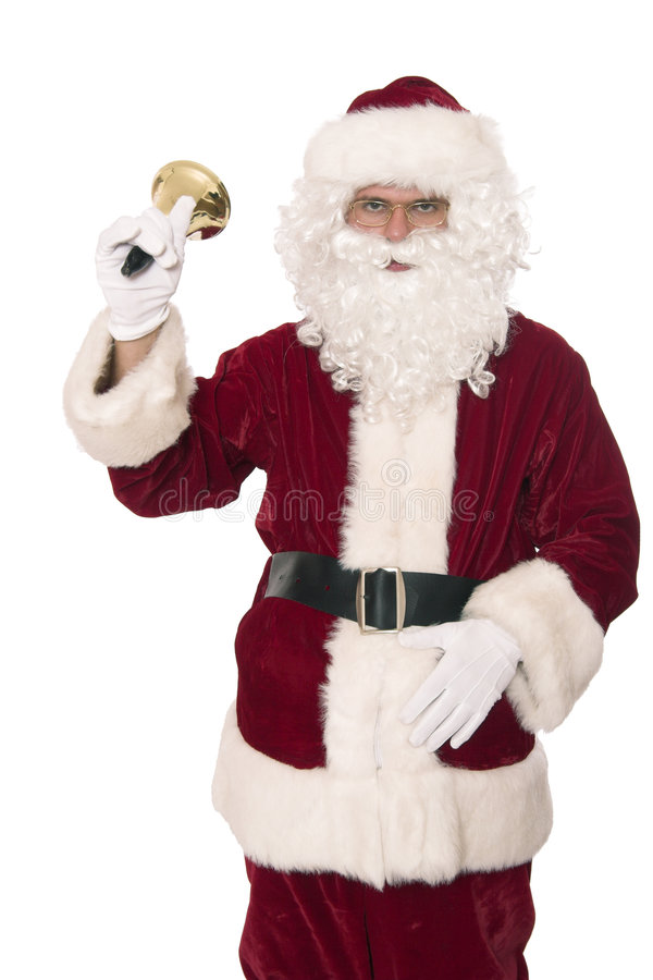 Santa rings bell 2 royalty free stock photos