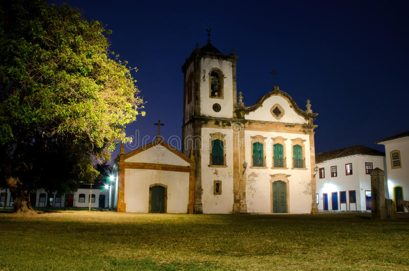 Santa Rita church in Paraty royalty free stock photography