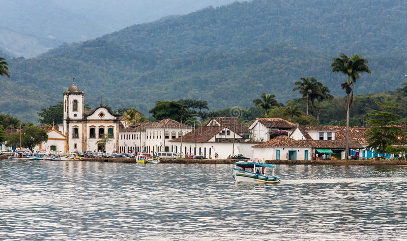 Santa Rita Church Paraty Rio de Janeiro fotografia stock libera da diritti