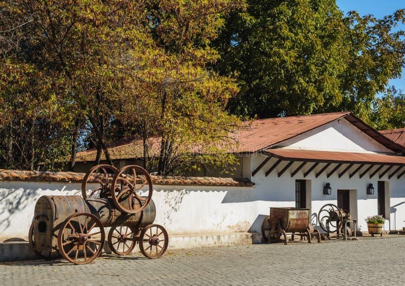 Santa Rita Winery cerca de Santiago de Chile fotografía de archivo