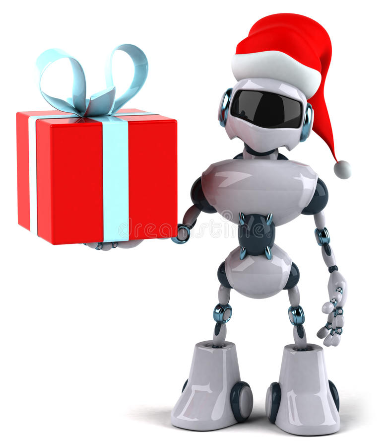 Santa robot royalty free illustration