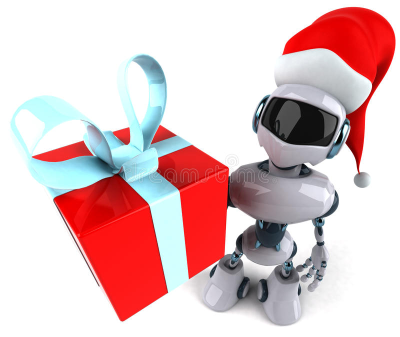 Santa robot vector illustration