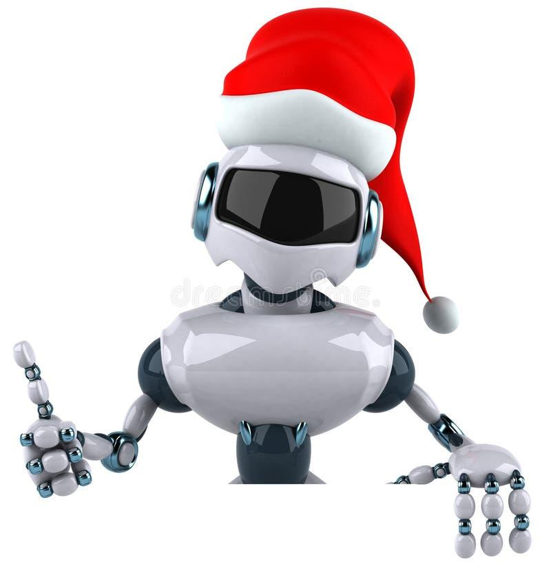 Santa robot vector illustration