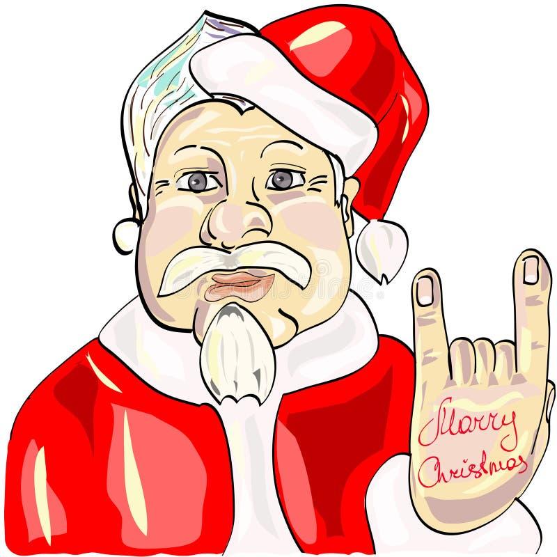 Santa rock and roll stock illustration