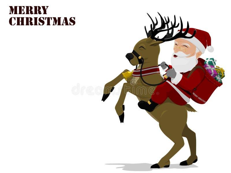 Santa Rodeo ilustração royalty free
