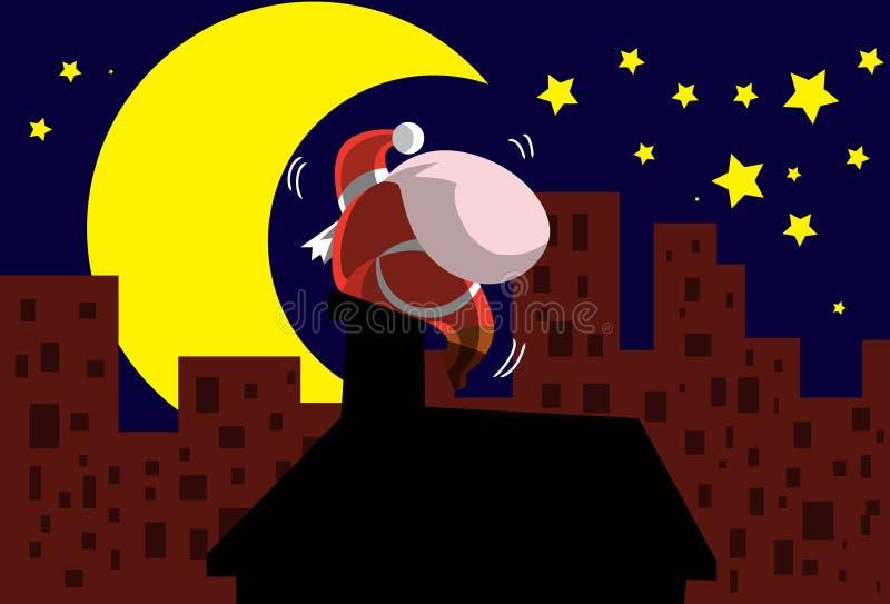 Download Santa On The Roof stock illustration. Image of santa - 11822128