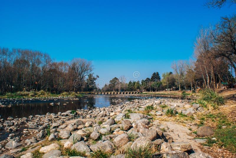 Santa Rosa de Calamuchita, Cordoba,Argentina. Santa Rosa river in Santa Rosa de Calamuchita, Cordoba Province, Argentina stock photo