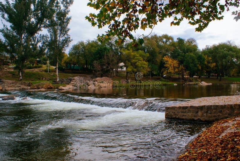Santa Rosa de Calamuchita in autumn. Santa Rosa de Calamuchita, Argentina in autumn with the Santa Rosa river royalty free stock photos