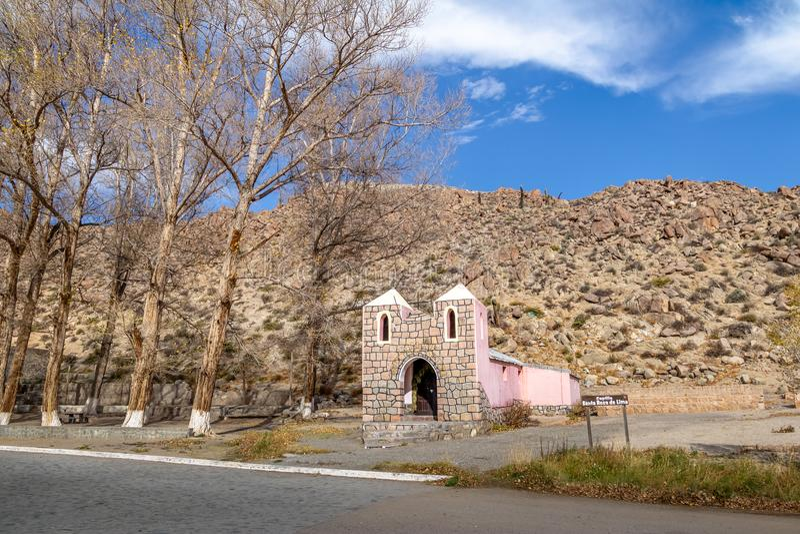 Santa Rosa de Lima Chapel - Santa Rosa de Tastil, Salta, Argentina royaltyfri fotografi