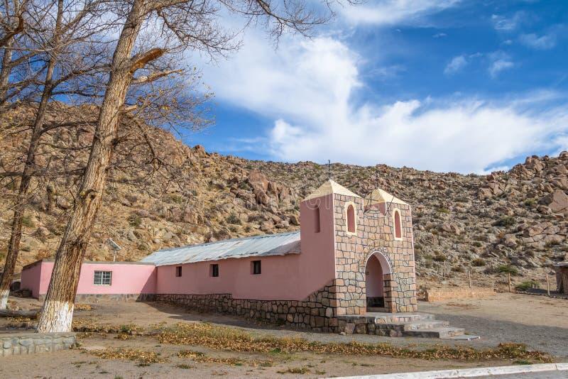 Santa Rosa de Lima Chapel - Santa Rosa de Tastil, Salta, la Argentina foto de archivo libre de regalías