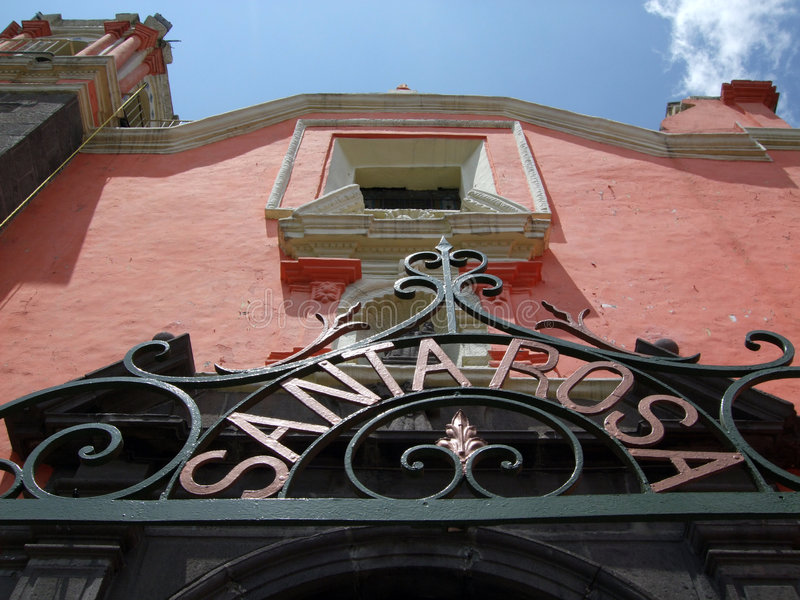 Santa Rosa Kathedrale-Puebla lizenzfreie stockfotos