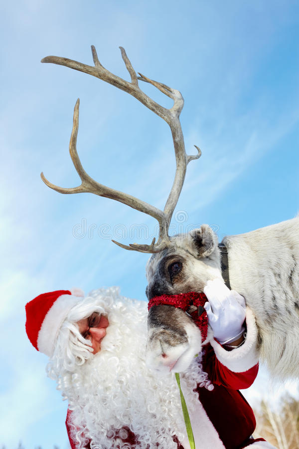 Santa And Rudolph Royalty Free Stock Photo