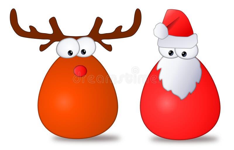 Download Santa & Rudolph Cartoon stock illustration. Image of cartoon - 20526193