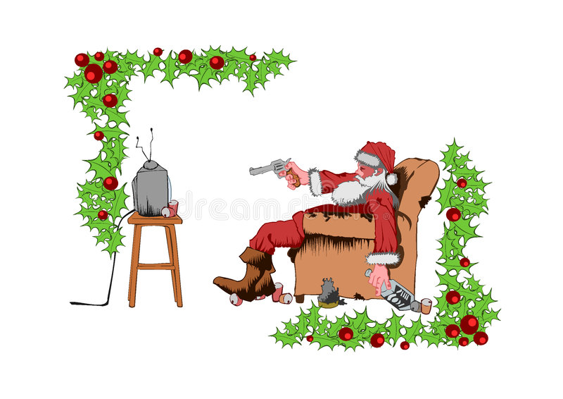 Santa ruim ilustração royalty free