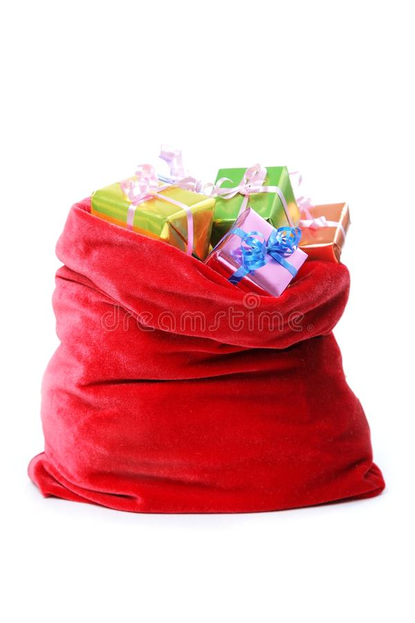 Free Santa`s Bag Full Of Presents Royalty Free Stock Photos - 11975858