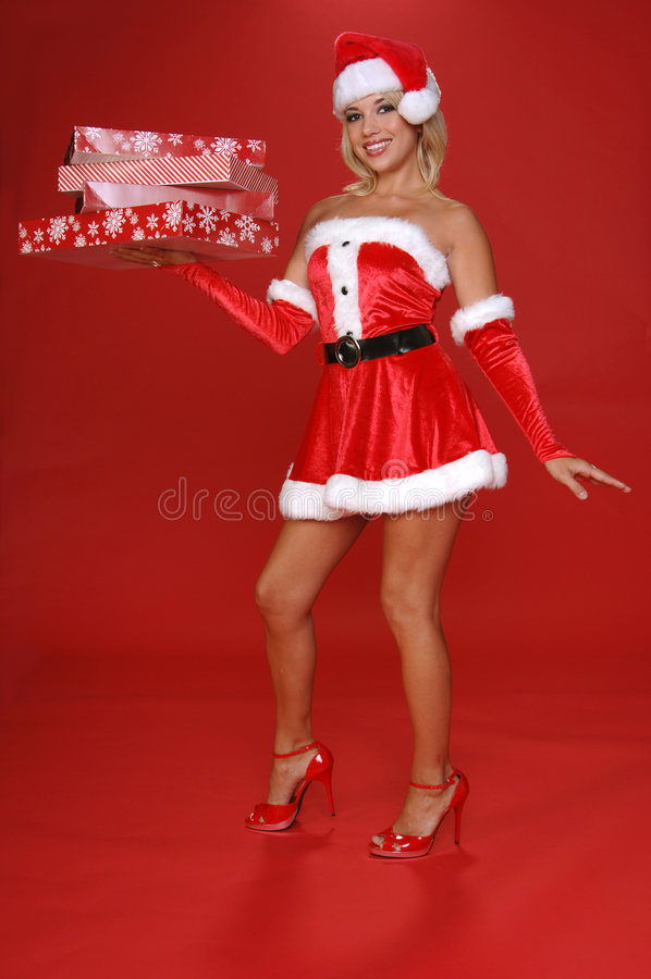 Santa's Christmas Helper royalty free stock images