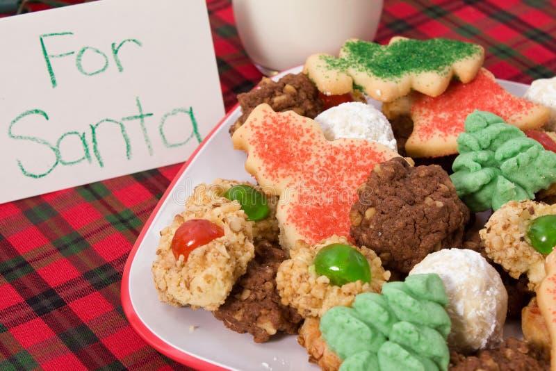 Santa's Cookies stock photography