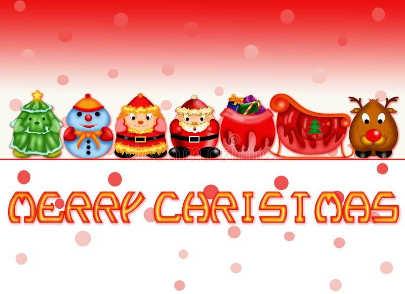 Santa`s family stock photography