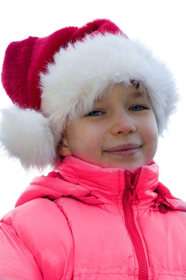 Santa's a girl. stock image