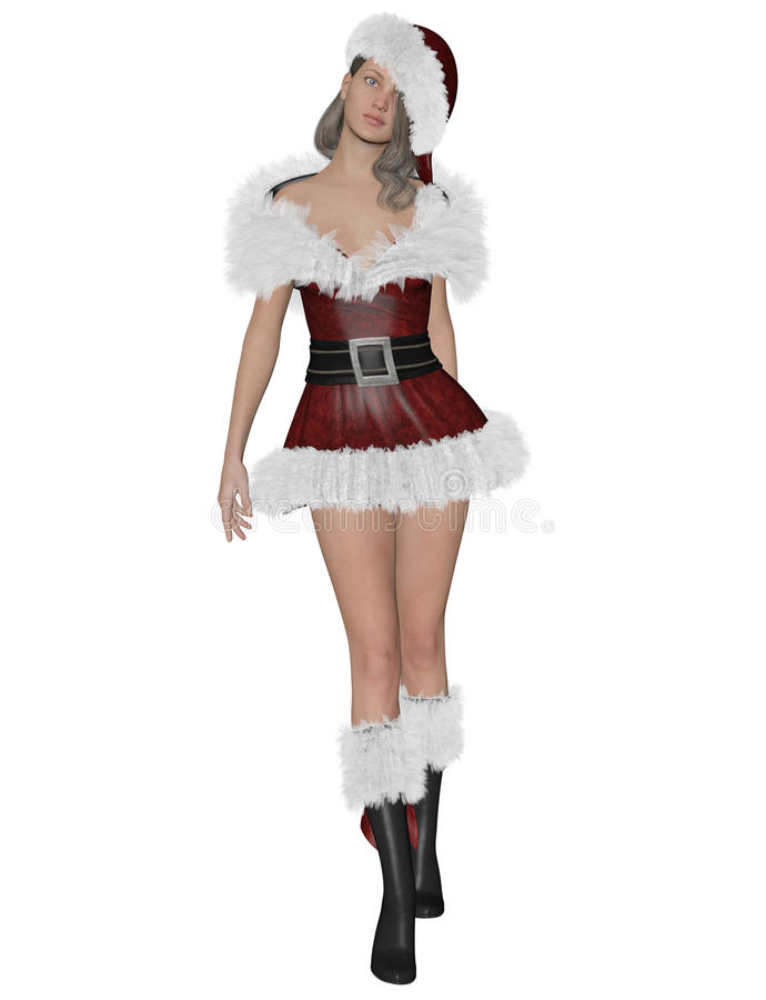 Download Santa´s girl stock illustration. Image of isolated, beauty - 80180698
