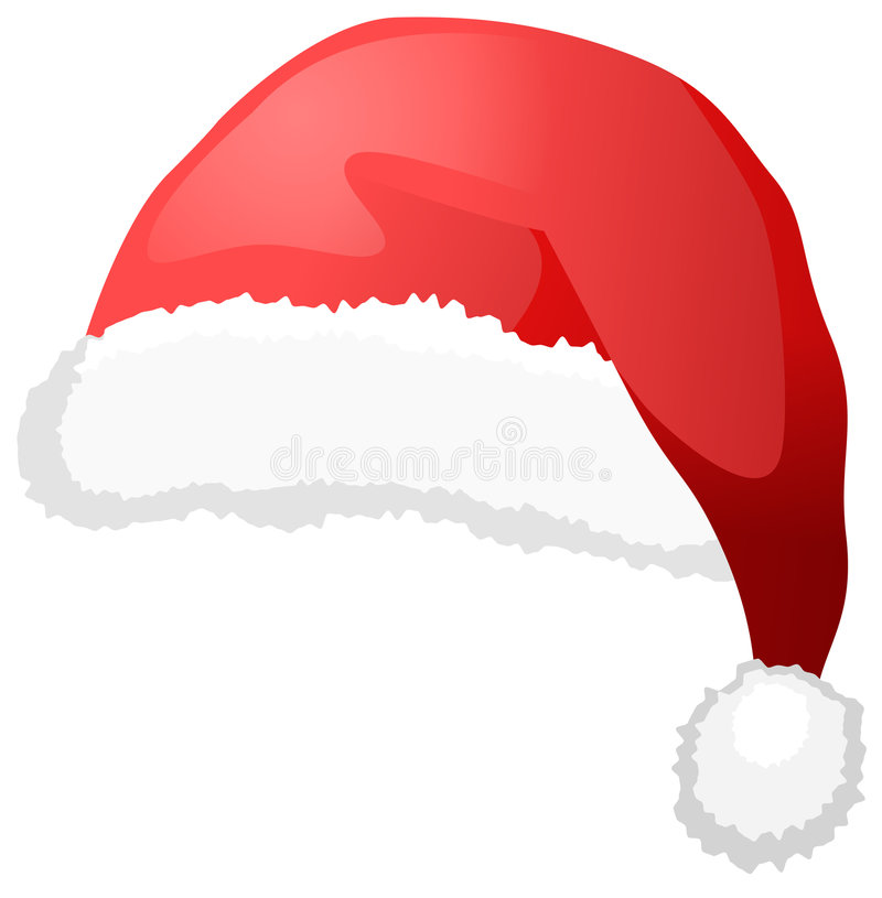 Santa's hat royalty free illustration