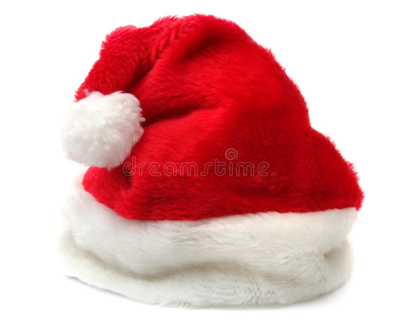 Santa's hat. Isolated on white background royalty free stock photography