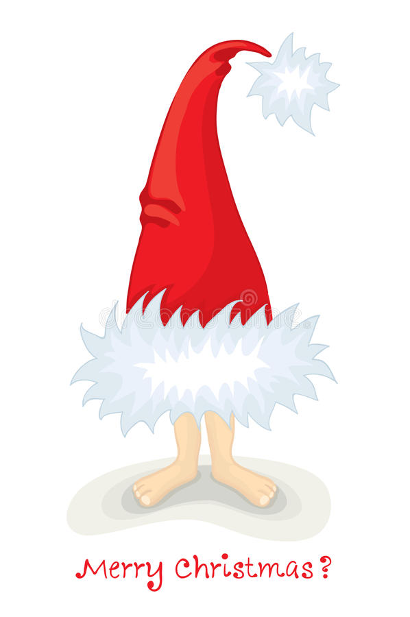 Download Santa's hat on the legs stock vector. Image of tree, drawing - 21238575