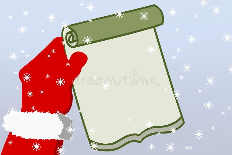 Santa's letter royalty free illustration
