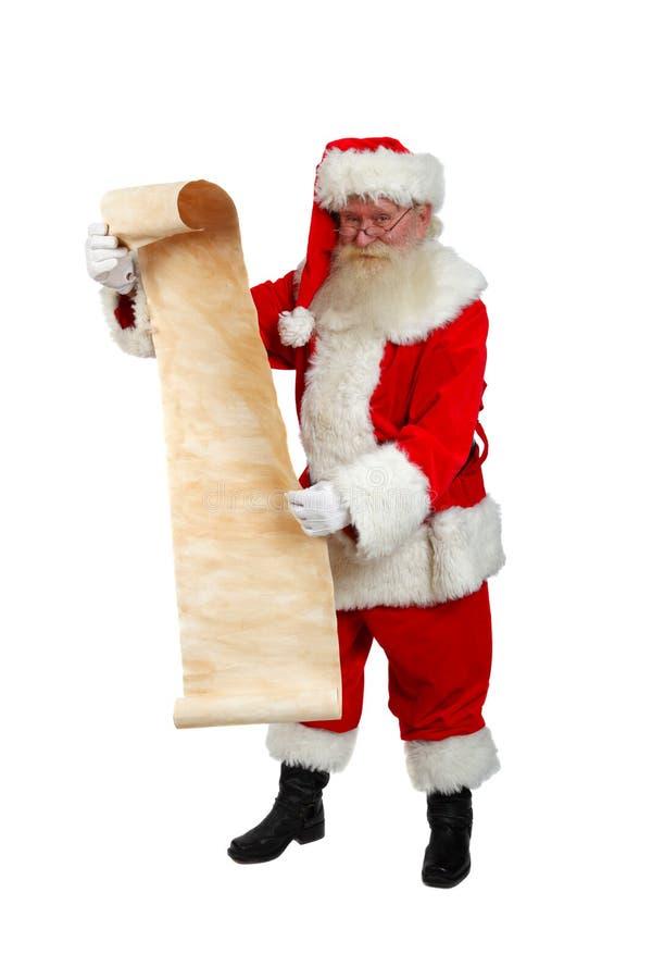 Santa's list stock images