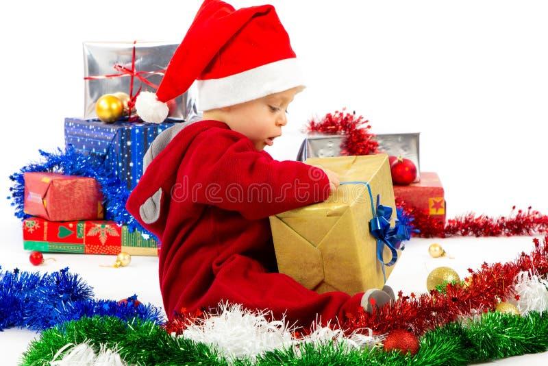 Download Santa's little helper baby stock image. Image of cute - 27980217