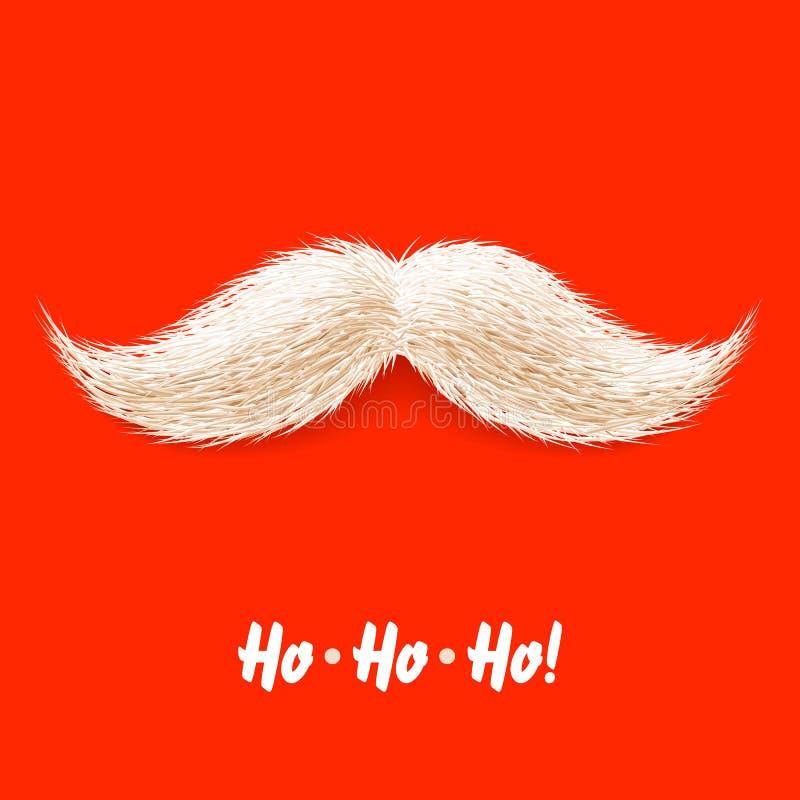Santas mustache stock illustration