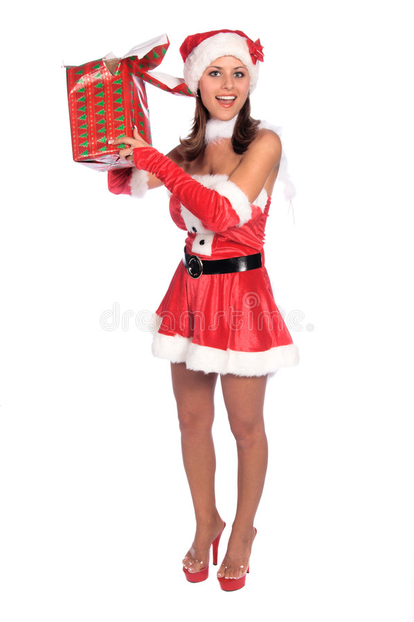 Santa's Naughty Elf royalty free stock image