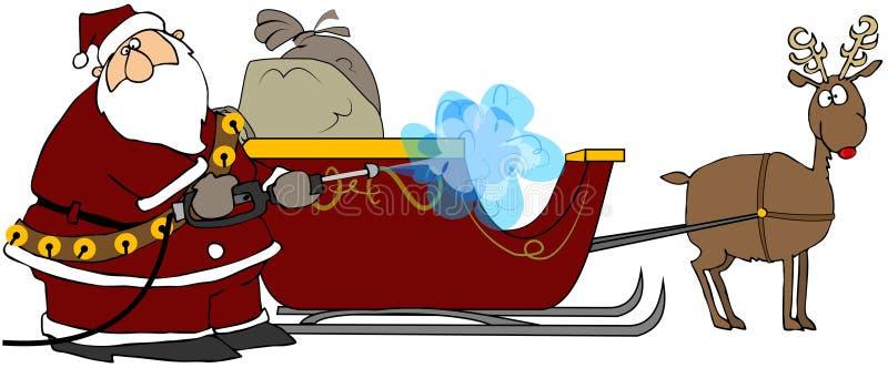Santa's Pressure Washer royalty free illustration