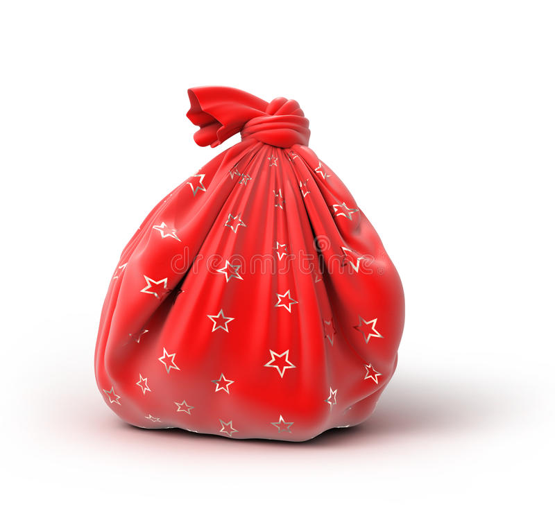 Download Santa`s sack of gifts stock illustration. Illustration of fabric - 43240964