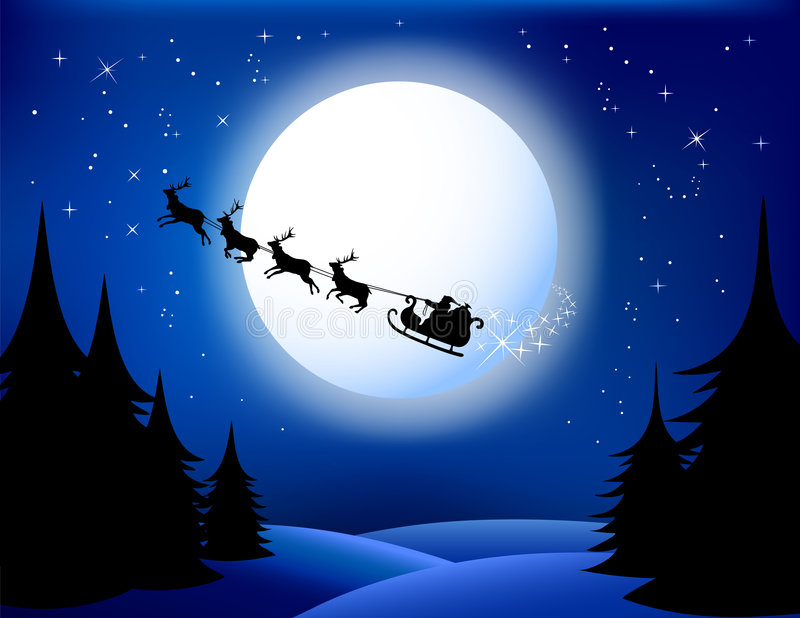Santa`s sleigh. Vector/Eps8. All elements are grouped in layers
