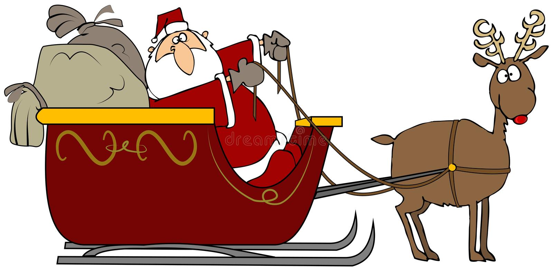 Santa's Sleigh royalty free illustration